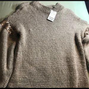 Tan MNG sweater top